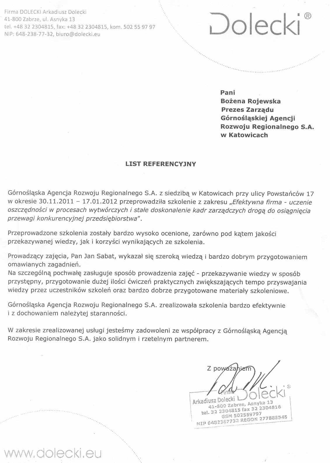 Recommendation-Dolecki2